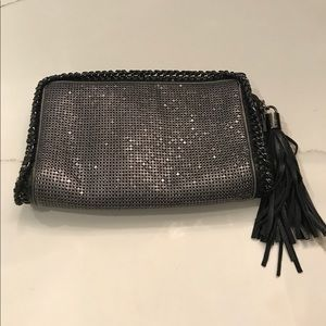 BCBG MaxAzria Metallic Clutch